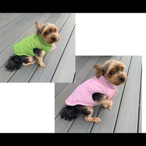 Hip Doggie pink and green reversible coat size M